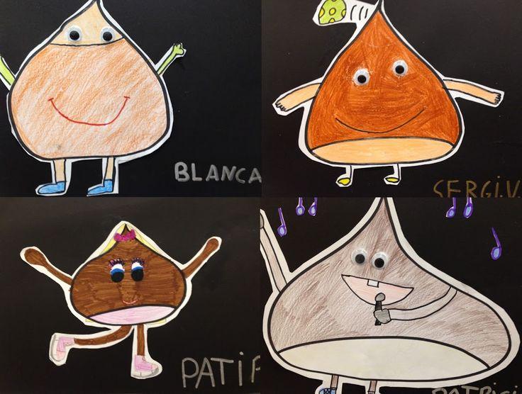 CASTANYADA - Material: paper, cartolina, colors, retoladors, tisores, cola - Nivell: CM PRIM 2015/16 Escola Pia Balmes