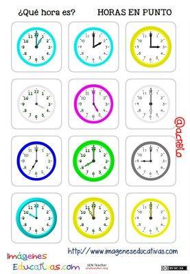 fichas de relojes analógicos. (3)