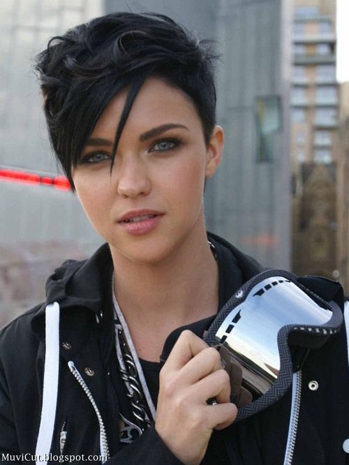 Short Hairstyles For Round Faces Young : 1556 best growing out the pixie images on pinterest