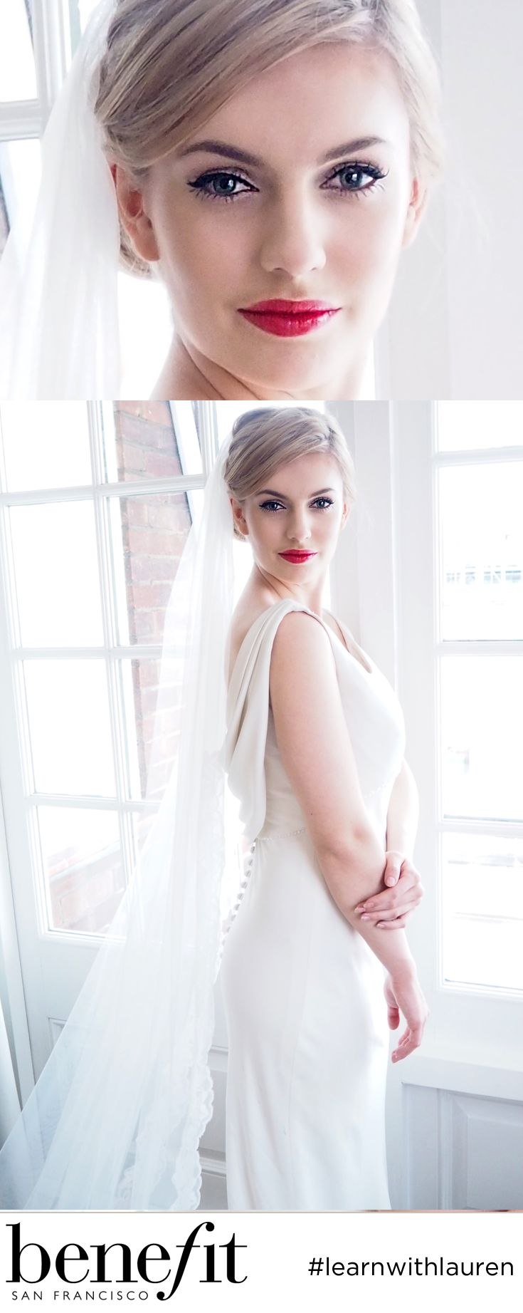 This bridal hair makeup and wedding dress is just too gorgeous for words! Accessories from @ RainbowClubUK Dress from @ritvawestenius All makeup from @laure
