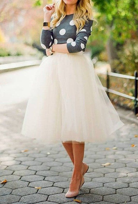 e015ad9f770 Ivory Tulle Tutu Skirt, Off White, Women Tutu in 2019 | Products ...