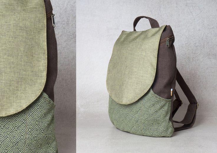 green backpack bag - backpack canvas backpack laptop backpack pattern  - backpack women - laptop bag women backpack by Badimyon on Etsy https://www.etsy.com/listing/226426872/green-backpack-bag-backpack-canvas