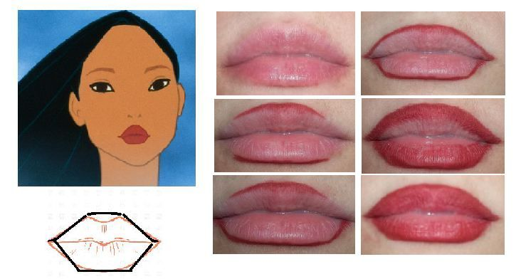 1. Start out with a line above your cupid's bow that is a soft arch 2. Draw a straigh line on your bottom lip (make sure to keep it straight, not curved) 3. Connect the bottom line with two p…