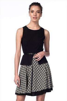 adL - Siyah Elbise 12423259000 %54 indirimle 59,99TL ile Trendyol da