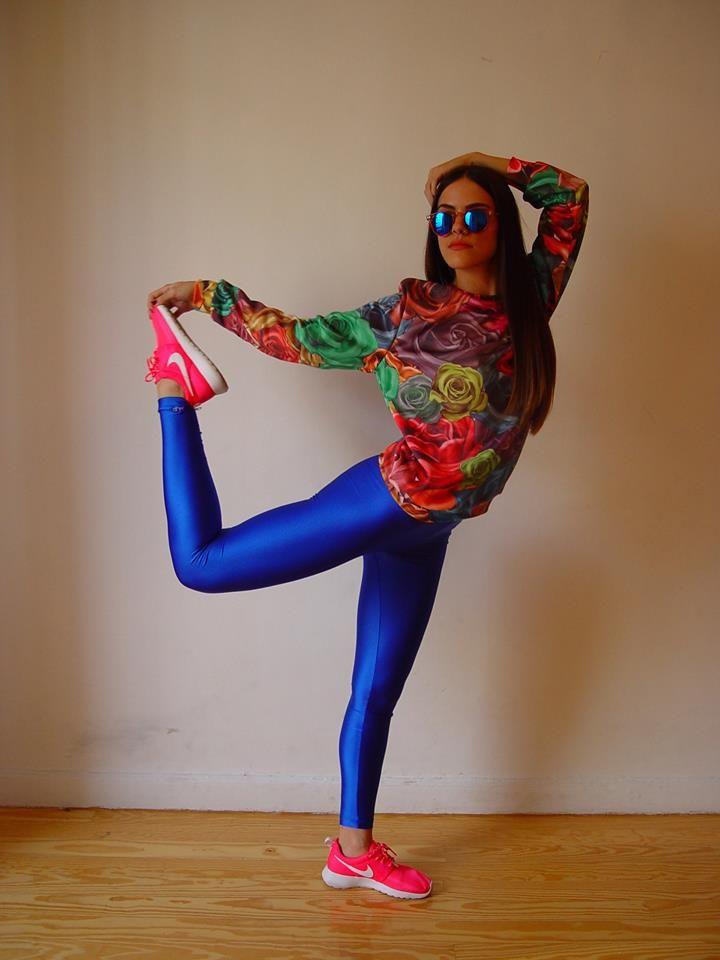 The blue PCP leggings