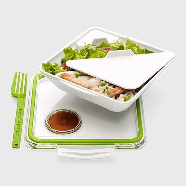 Krabička na jídlo s vidličkou. Box na svačinu Appetit vhodný pro přepravu a servírování lehkého poledního jídla.