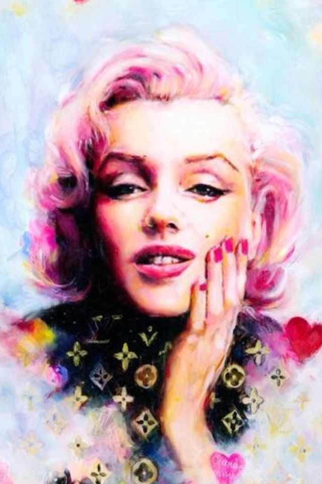 Marilyn Monroe by Charmaine Olivia iPhone wallpapers
