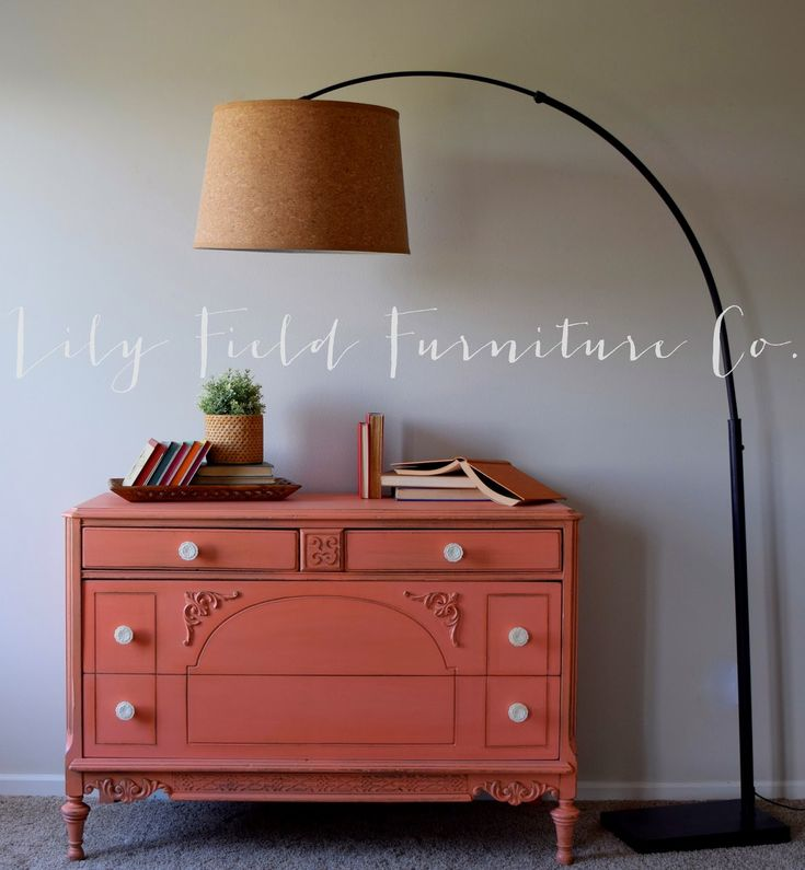 Colorful Coral Dresser {guest Post}