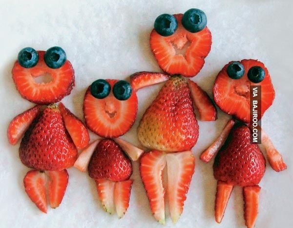 Strawberry family - For all your cake decorating supplies, please visit craftcompany.co.uk
