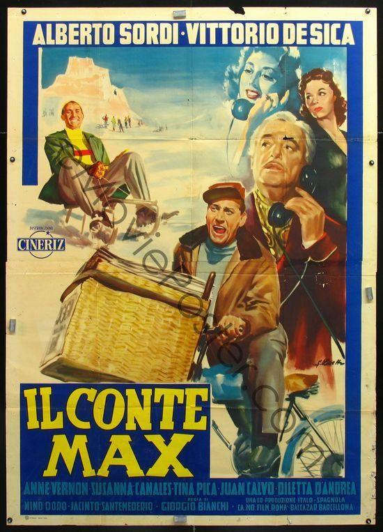 """Count Max (1957) """"Il conte Max"""" (original title) Stars: Alberto Sordi, Vittorio De Sica, Anne Vernon ~  Director: Giorgio Bianchi"""