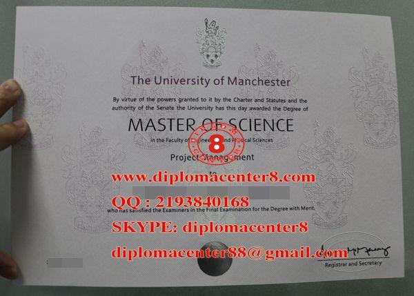 buy fake University of Manchester degree