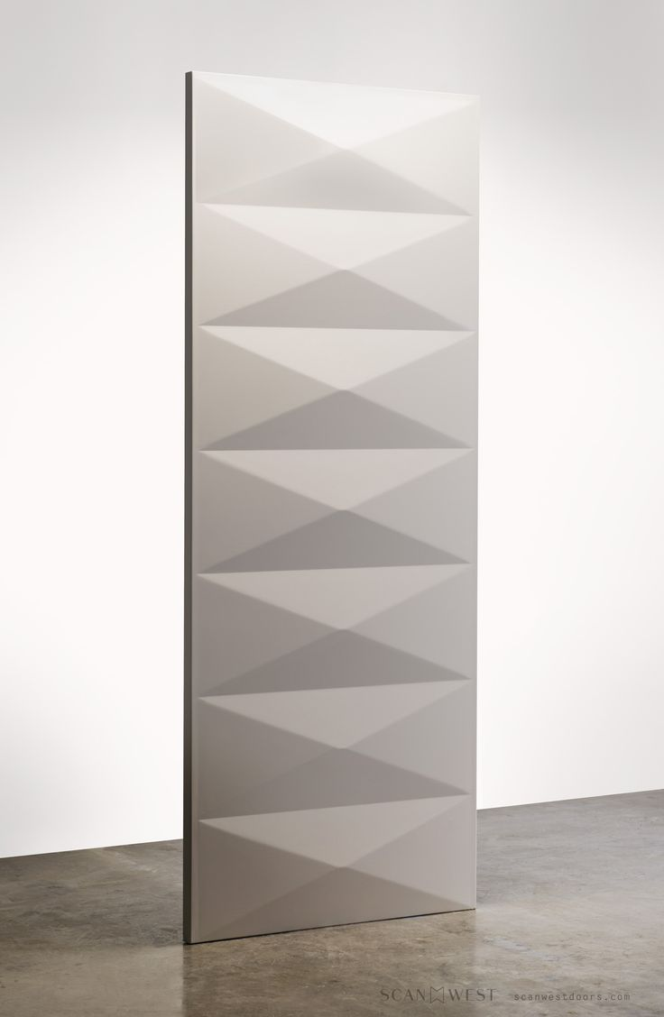 """1001 - DECO An interior door design comprising of seven horizontal panels repeating a modern twist on a classic """"art deco"""" pattern."""