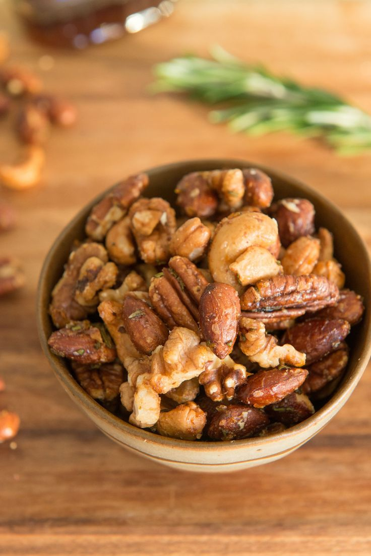 Fancy Roasted Cocktail Nuts - probably my favorite slightly sweet roasted nut recipe so far