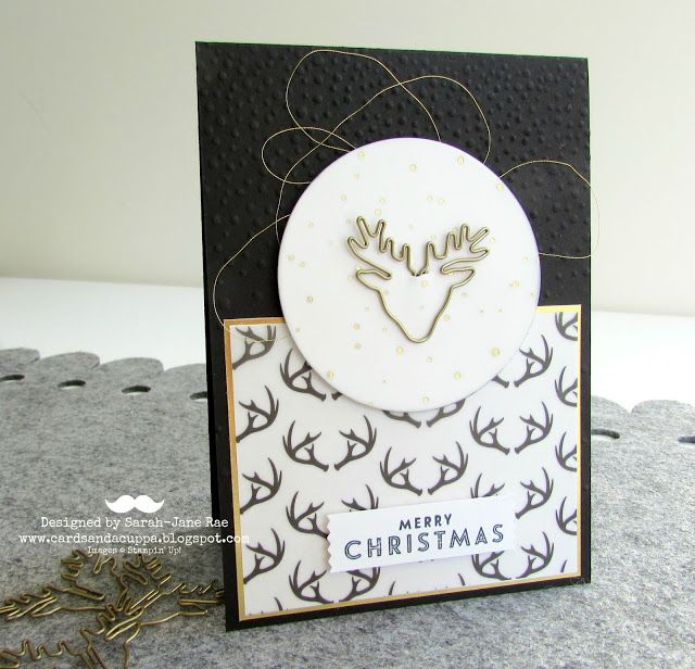 Sarah-Jane Rae cardsandacuppa: Stampin' Up! UK Order Online 24/7: Waste Not, Want Not! A Christmas Card Using Winter Wonderland Vellum Stack and Reindeer Clips By SU!