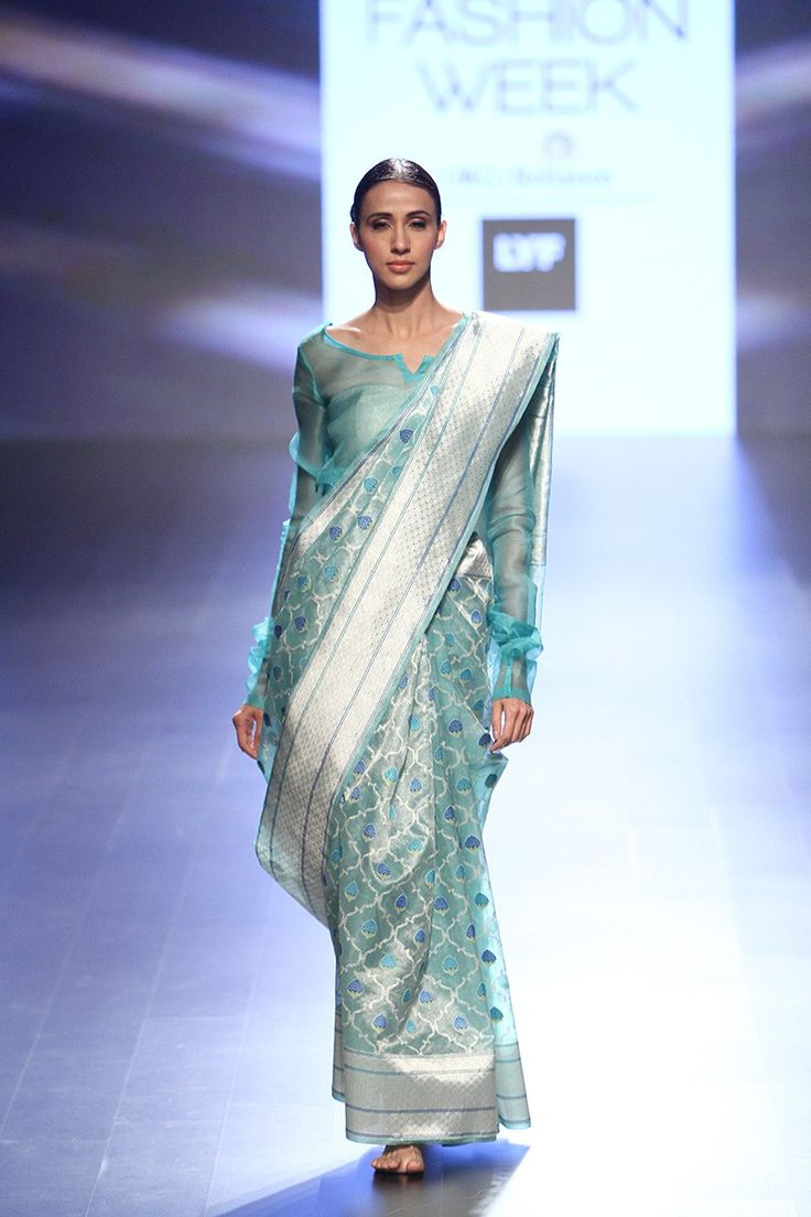 Summer or winter, you can never go wrong with silk sarees #LFW #LIFW2016 #Frugal2Fab