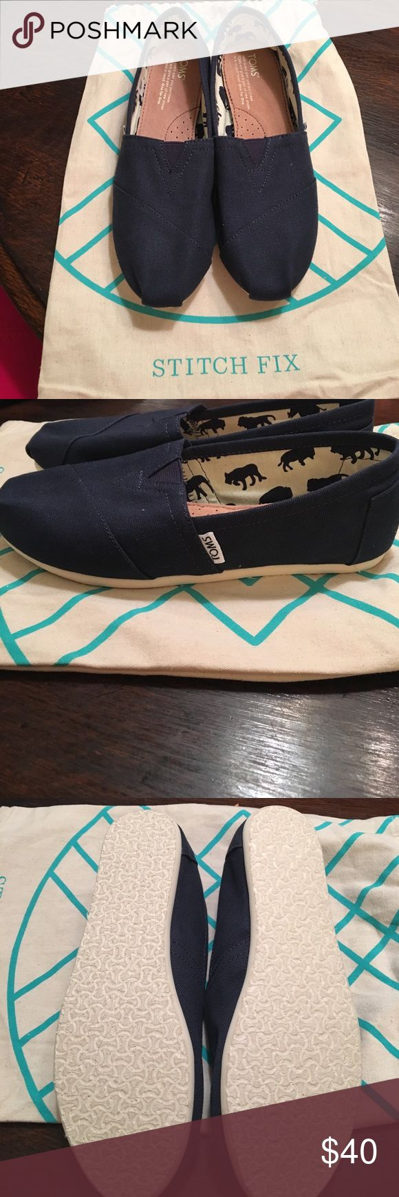 Brand new navy canvas Toms. Received in stitch fix but already had a pair. Never worn. TOMS Shoes Flats & Loafers