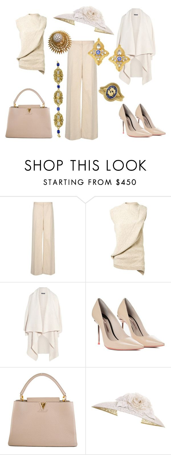 State Visit to Argentina Day 3: Morning by queenalex on Polyvore featuring мода, Alexander McQueen, Victoria Beckham, STELLA McCARTNEY, Sophia Webster, Louis Vuitton and Van Cleef & Arpels