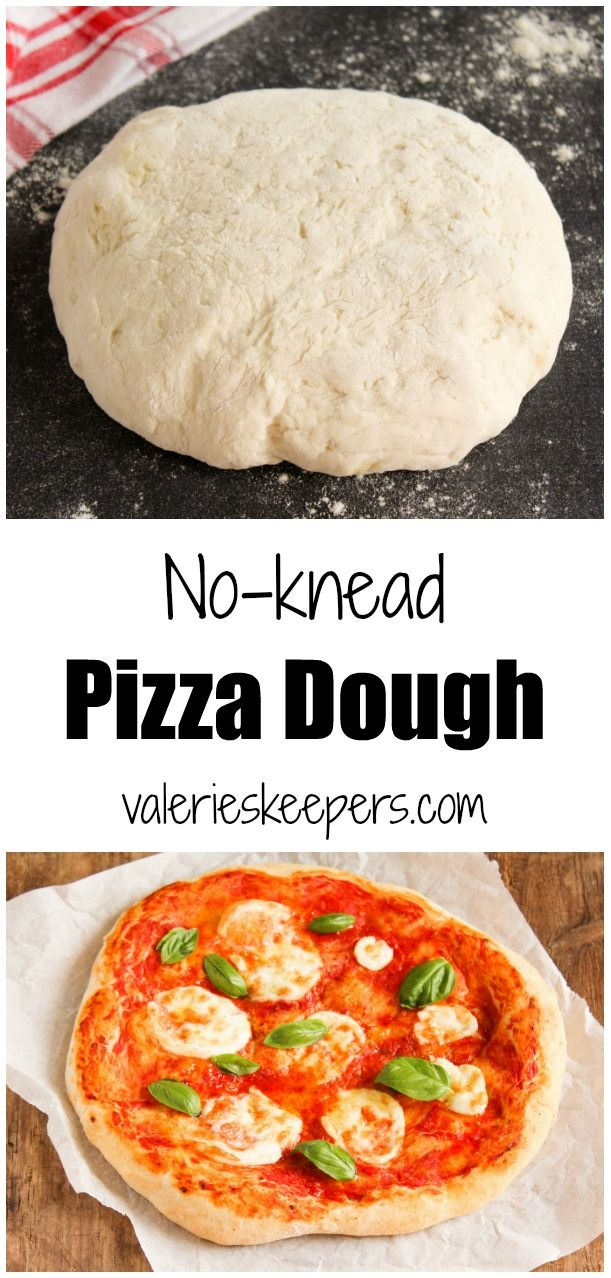 You will never want to buy pizza dough again with this make-ahead no-knead pizza dough recipe! It will keep in the refrigerator for up to 2 weeks.