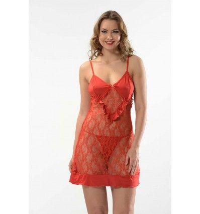 Tamamı dantelden oluşmuş transparan kırmızı fantazi gecelik #avcılar #beylikdüzü #fantazi #erotik #gecelik #seksi