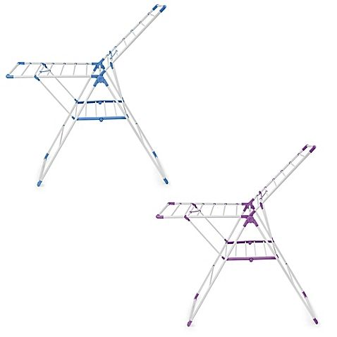 Sturdy and space-saving, the Bonita Tubello Clothes Drying Stand lets you hang clothes to dry just about anywhere. Made of durable cold-rolled steel this handy drying rack provides up to 38' of drying space and folds when not in use.