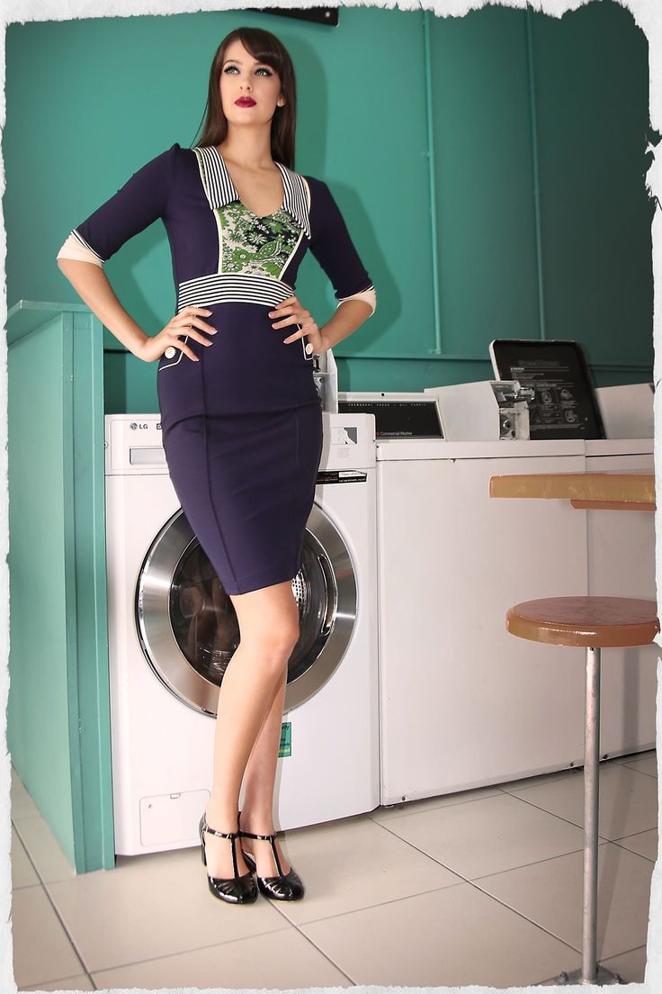 Omg I have to have this for work! Soho Jersey Wiggle Dress from Kitten D'Amour