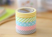 Lovely candy colored rainbow Decorative washi tape set Scrapbook DIY stickers Japanese PDA can write paper(China (Mainland))