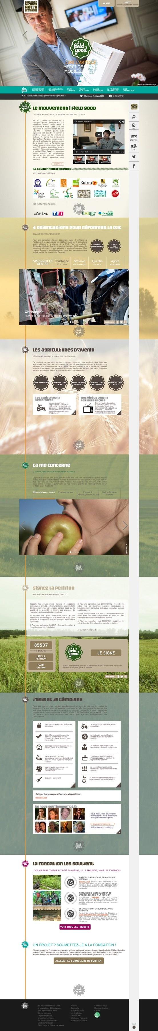 Site internet http://www.ifieldgood.org pour la Fondation Nicolas Hulot