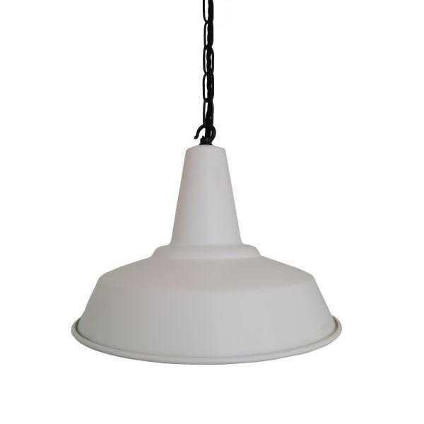 Hex White Factory Pendant