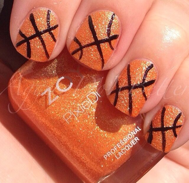 March madness basketball nails - 14 Best Basketball Nails Images On Pinterest Basketball Nails