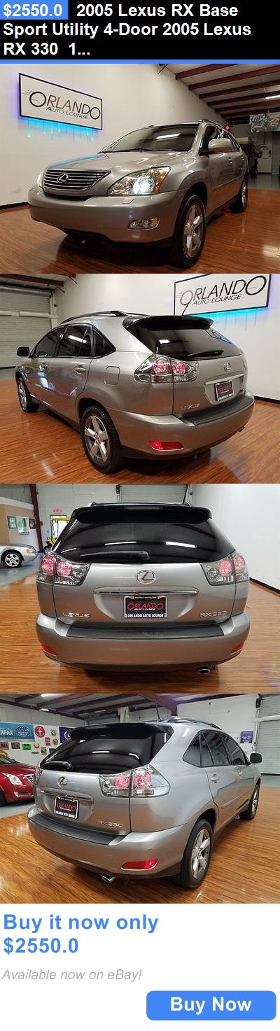 SUVs: 2005 Lexus Rx Base Sport Utility 4-Door 2005 Lexus Rx 330 112587 Miles Silver 4D Suv Fwd 6 Auto BUY IT NOW ONLY: $2550.0