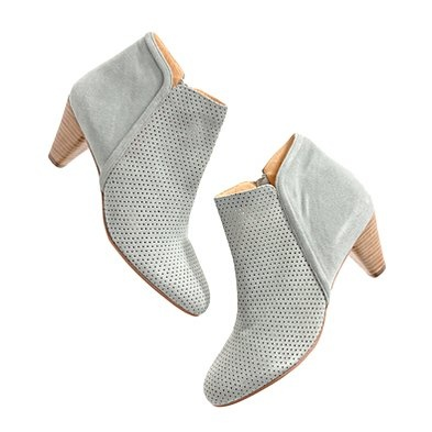 suede booties. cute.