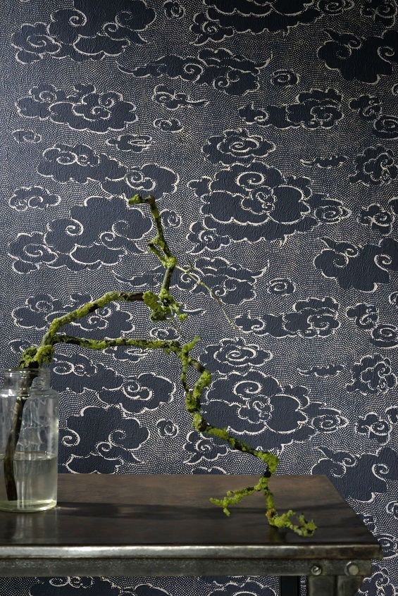 Washi, a flight to the clouds from which the dreamer watches for the Levant. #wallcovering #wallpaper #architect #designer #interiors #art #japanese #elitis #newcollection