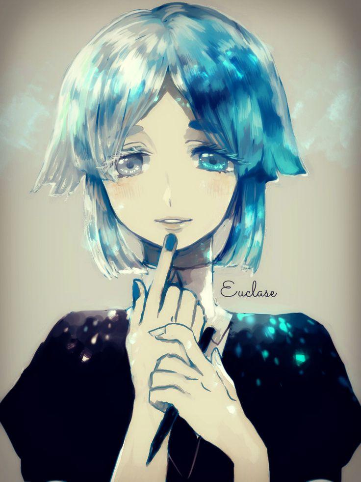 Anime heterochromia / odd eyes white blue (Euclase Houseki no Kuni)