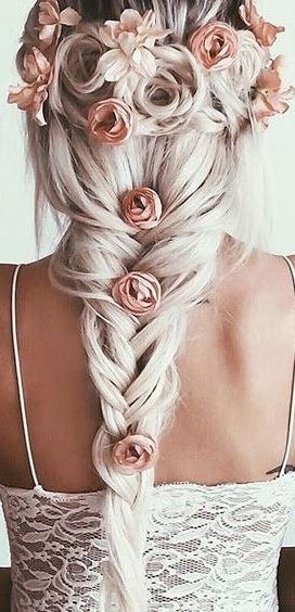 Pretty flower braid ♡