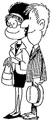 """Los padres de Mafalda y Guille. Son de clase media, (""""mediaestupida"""" segun mafalda).  No se sabe el nombre del padre. La madre se llama Raquel. Ella es una ama de casa que no acabo los estudios por casarse cosa que Mafalda siempre le recriminó. El es un agente de seguros que siempre estara pendiente de que a su familia nunca le falte el dinero."""