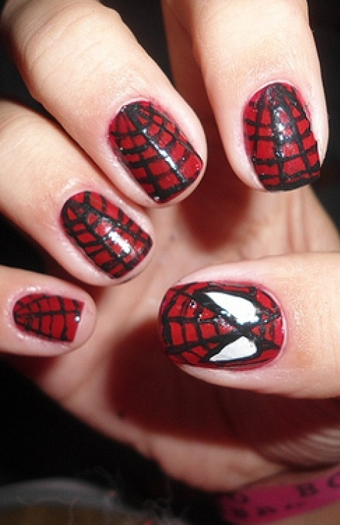 16 best spiderman images on pinterest blankets dark side and draw spiderman nails prinsesfo Choice Image