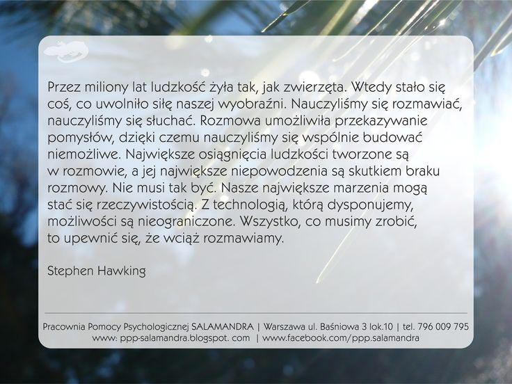 Stephen Hawking mówi o wartości komunikacji