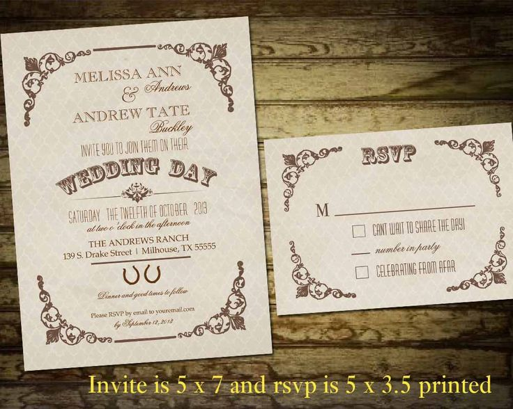 Country Western Wedding Invitations | Vintage Style Corner Flourishes and Horseshoes Country Western Wedding Suite | Digital Printable by NotedOccasions on Etsy https://www.etsy.com/listing/158114737/country-western-wedding-invitations-SR