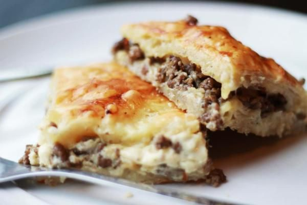 Phyllo Meat Pie Recipe:  Okay - It's really Egyptian.  Had this at a small restaurant in Wichita and it was delicious.  Hope this particular version is as good as theirs.