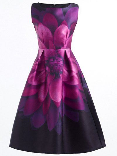 stunning flower print cocktail dress