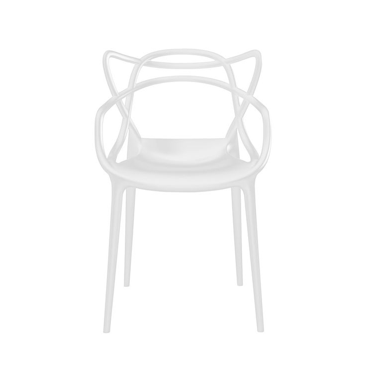 Add award winning design to your home with the Masters Chair in white from Kartell. Designed by Philippe Starck with Eugeni Quitllet this chair is a striking tribute to three iconic chairs; the 'Se...