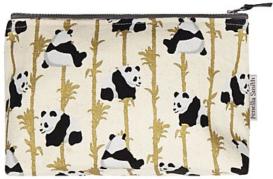 Panda print make-up bag from John Lewis. Keep all your favourite makeup together in this cute cosmetic bag, adorned with adorable pandas. #affiliate