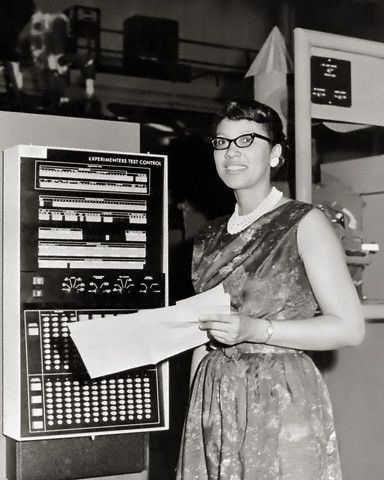 Mathematician Katherine Johnson Along With Dorothy Vaughn