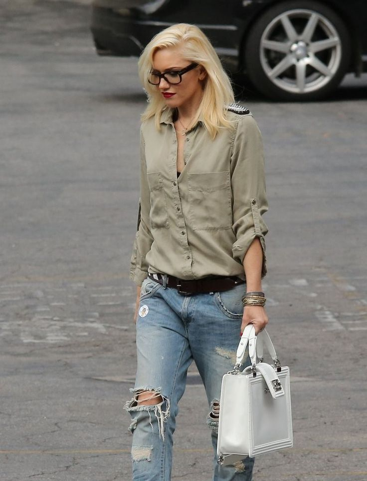 Gwen Stefani with glasses, casual style in LA