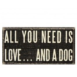 Love Dog Plaque