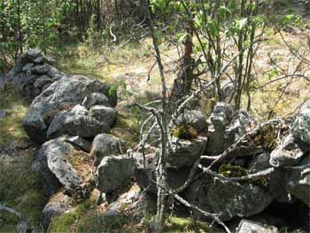 Каменные валы на Лапинмяки