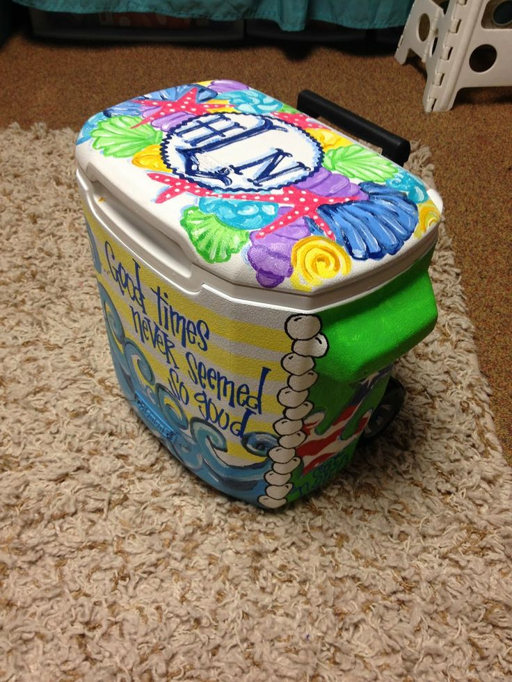 painted cooler rainbow pinterest starfish coolers