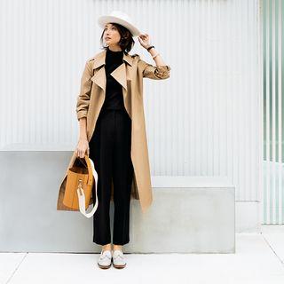 シルエットや素材を変えればOK!黒パンツのおしゃれバリエMarisol ONLINE|女っぷり上々!40代をもっとキレイに。