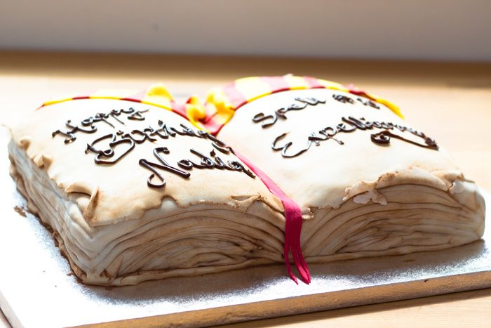 Making a cake shaped like a book Birthday cake and party ...