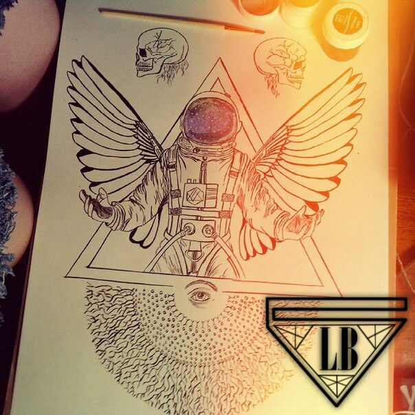 #тату#идея#art#tatoo#sketch#tattoo#арт#скетч#cosmonaut